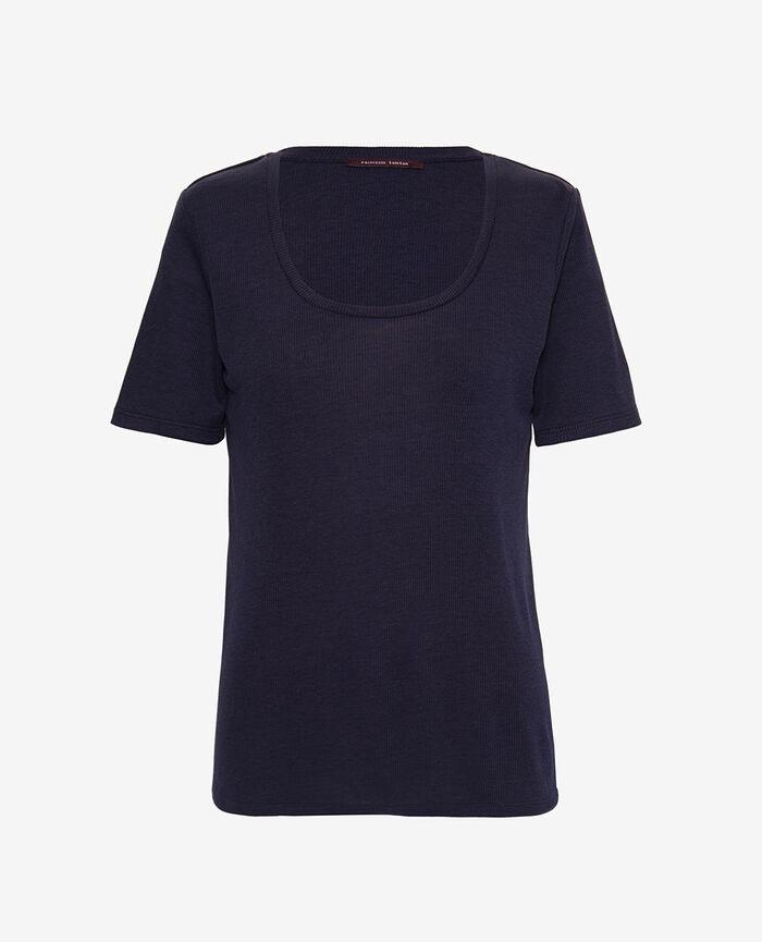 T-shirt manches courtes Bleu marine Latte