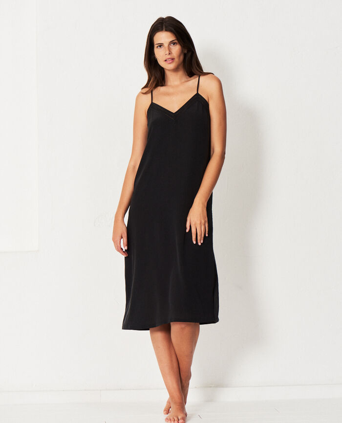 Long nightie Black Caresse