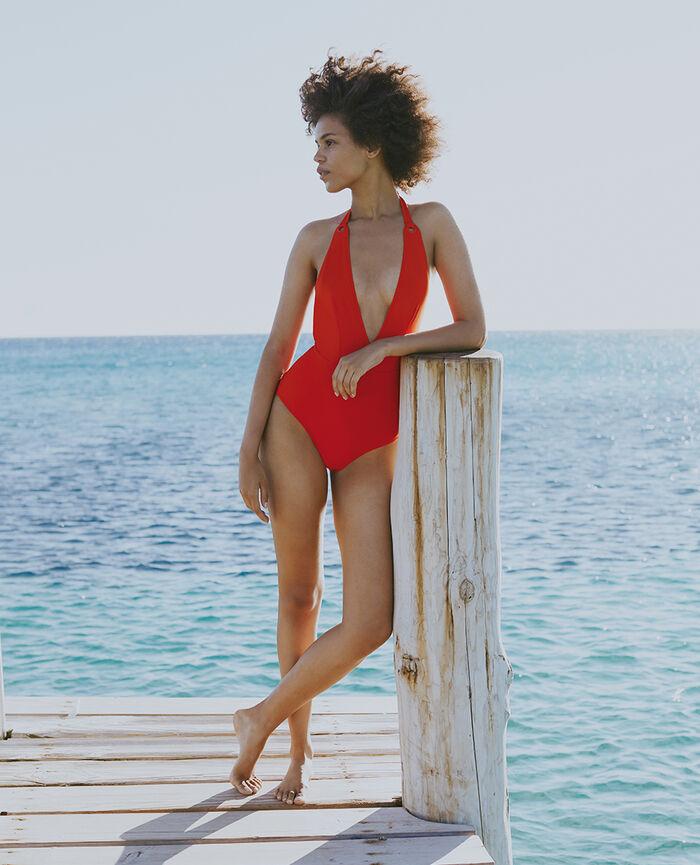 Swimsuit halterneck Pamela red Impala