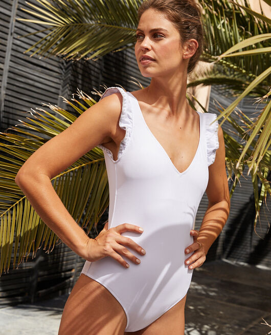 Swimsuit White Froufrou
