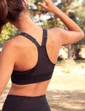 Sports bra medium support Black Run