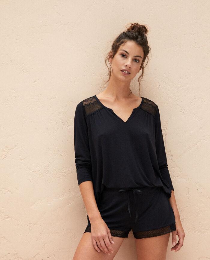 Pyjama shorts Black Douceur