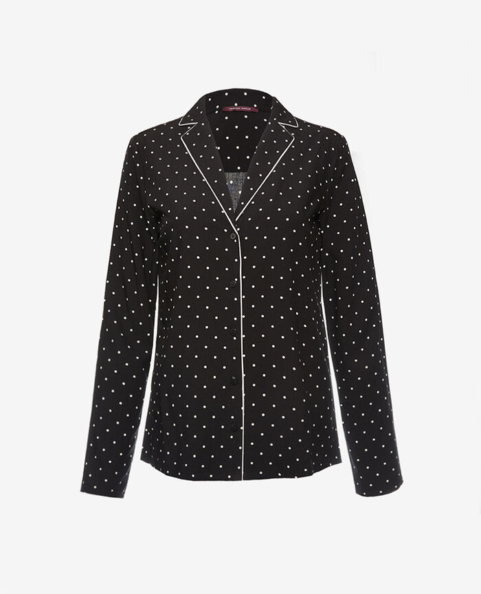 Pyjama jacket Dots black Constellation