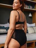 Culotte taille haute Noir Velvet