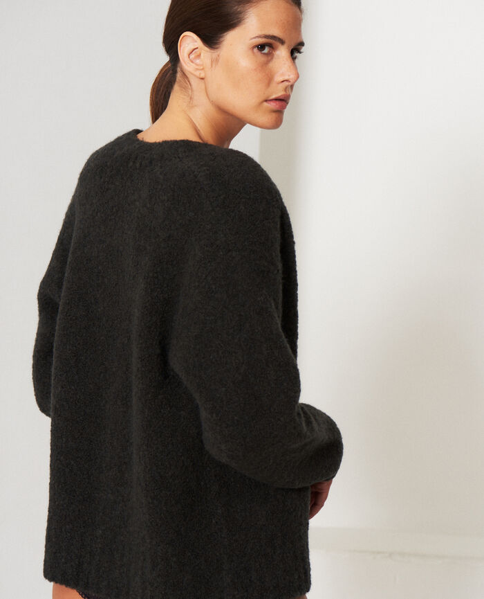Long-sleeved cardigan Smoky grey Nuage