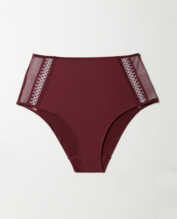 Culotte taille haute Rouge cassis Eclat