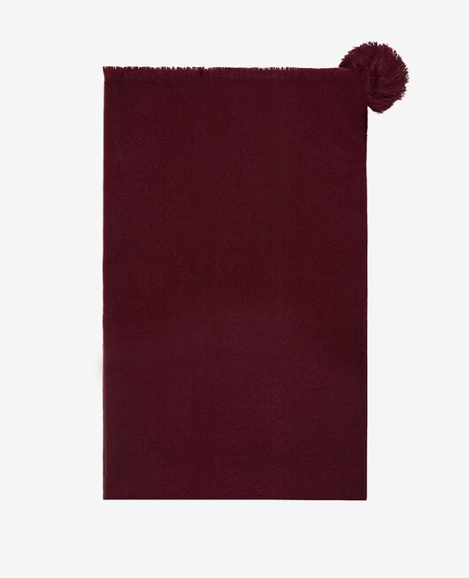 Scarf Cassis red Color