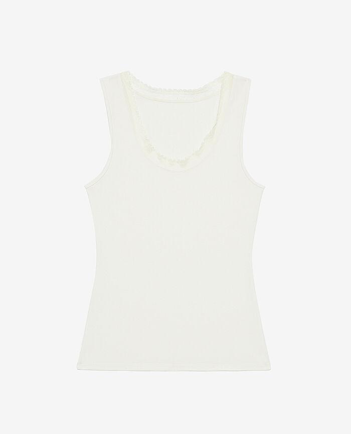 T-shirt sans manches Blanc glacé Heattech© extra warm