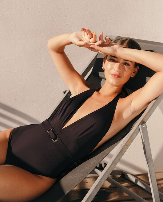 Swimsuit halterneck Black Impala