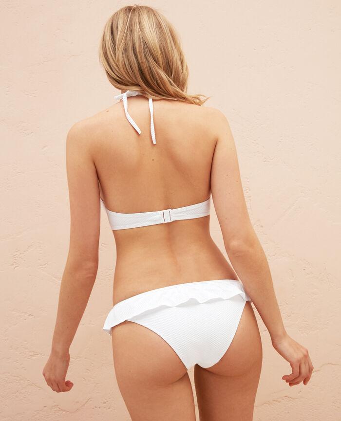 Culotte de bain bikini Blanc Farah