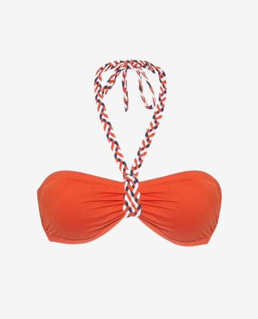 Maillot de bain bandeau Rouge tangerine Natte