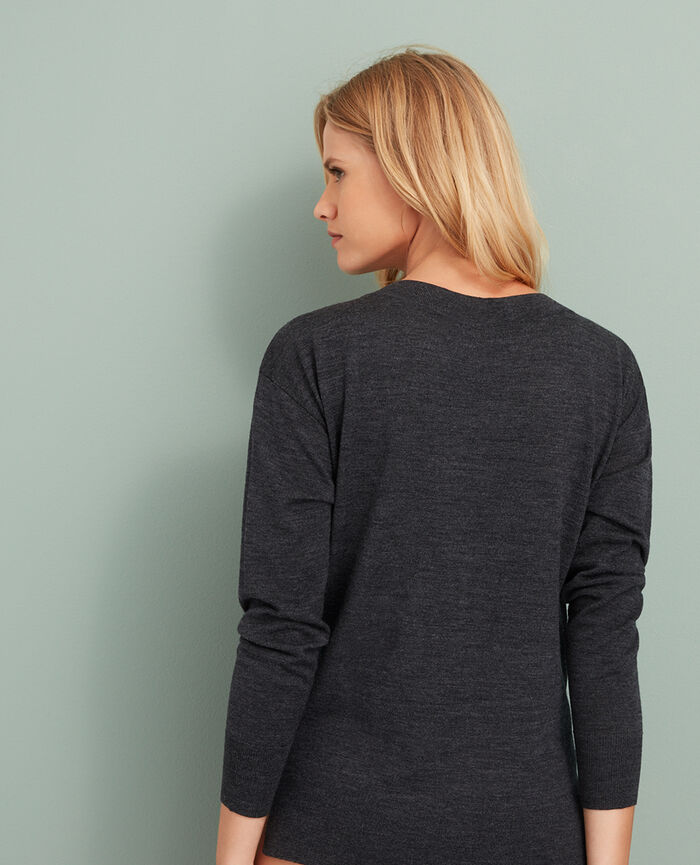 Boatneck jumper Anthracite grey Extra