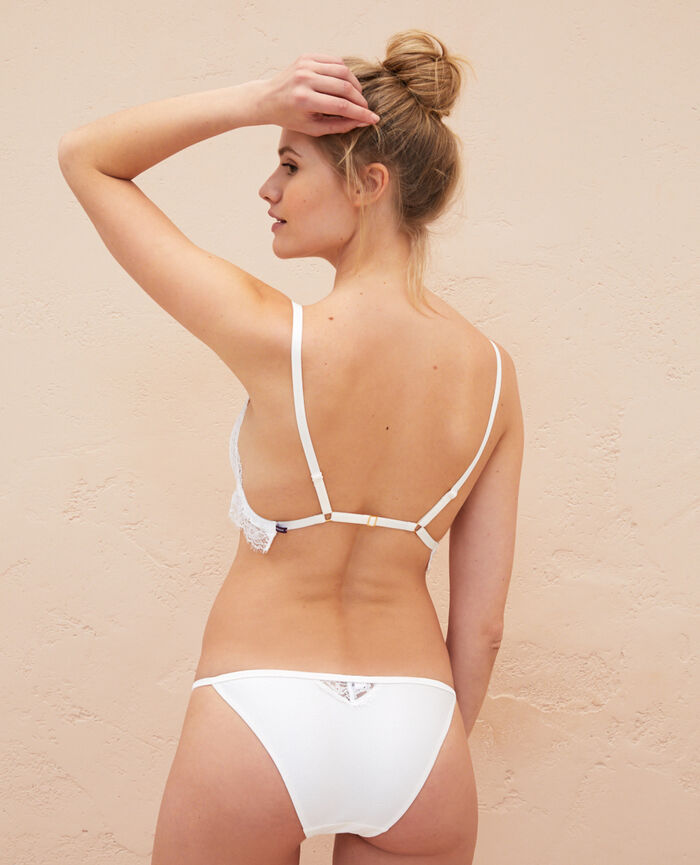 Culotte taille basse Blanc rosé Habibi