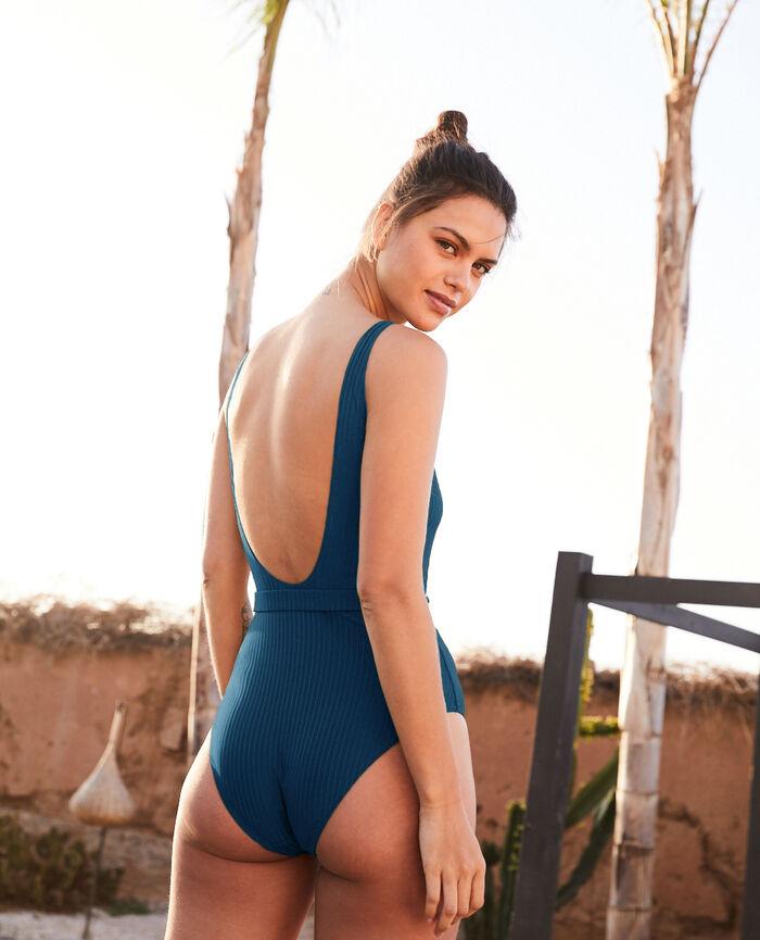 Maillot de bain une pièce paddé Bleu sombrero Couture