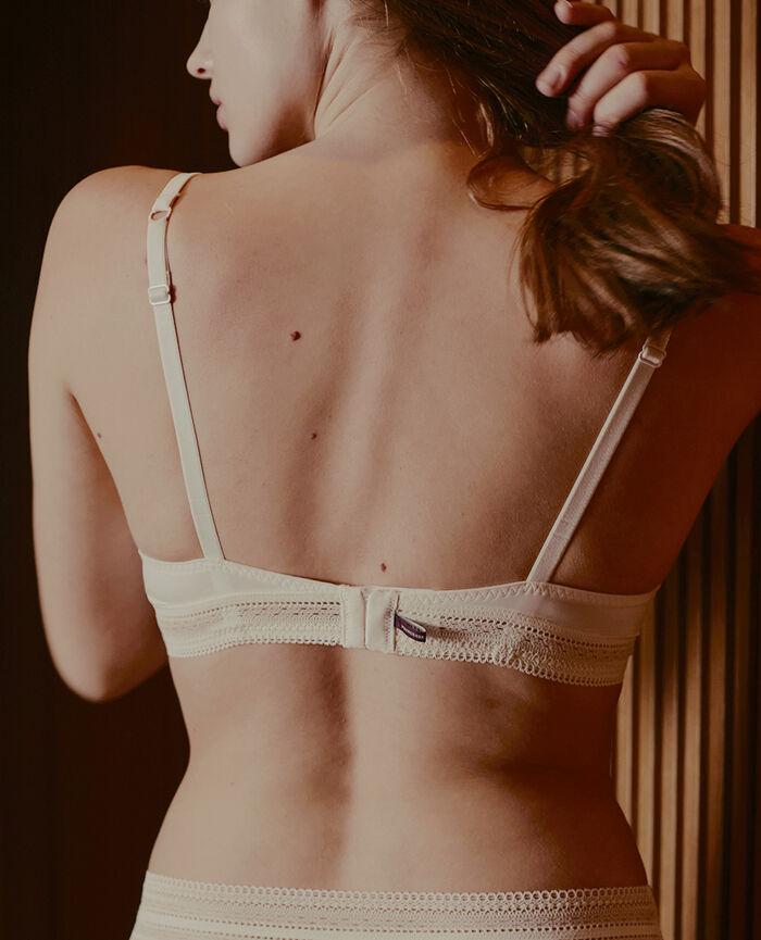 Soutien-gorge sans armatures paddé Blanc rosé Eclat