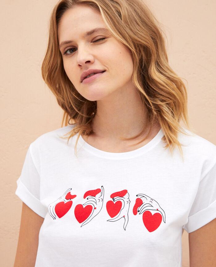 T-shirt manches courtes Blanc à la folie A la folie
