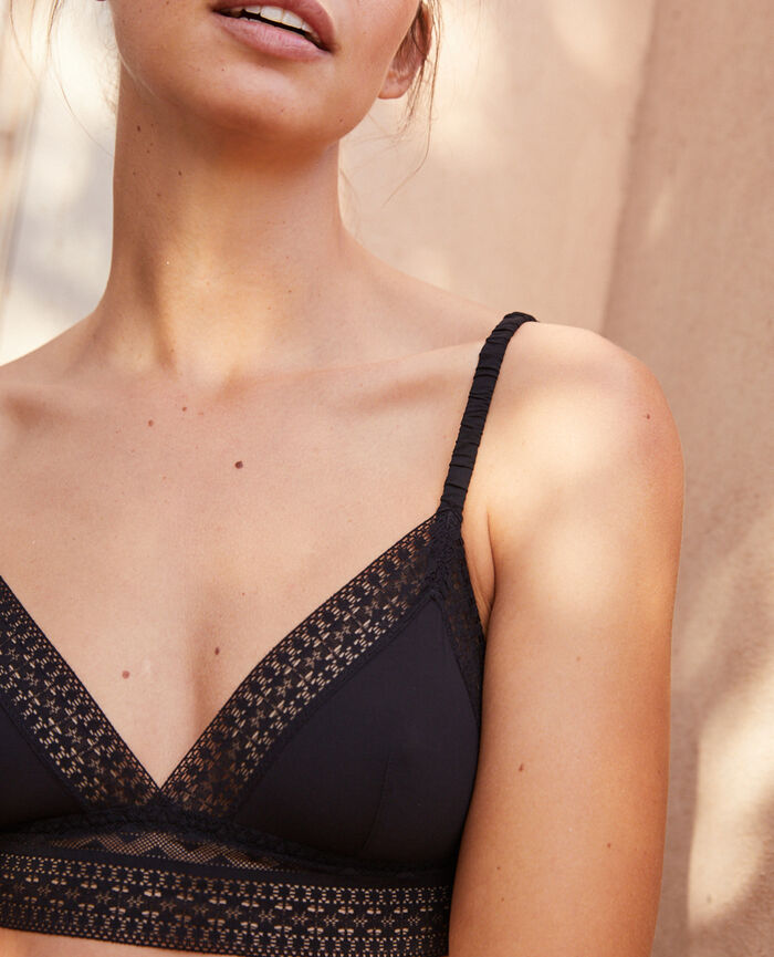 Soft cup bra Black Simone