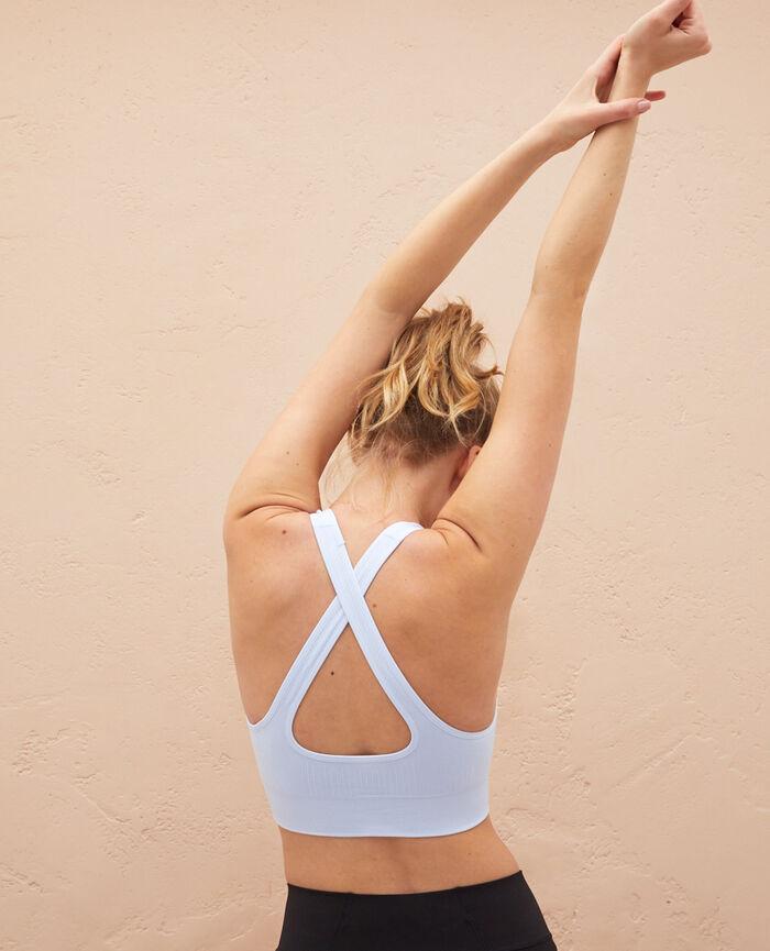 Brassière de sport maintien léger Bleu ciel Yoga