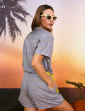 Playsuit Blue check Vacanze