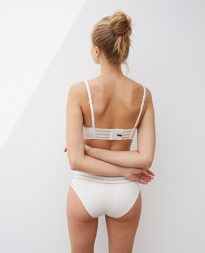 Soutien-gorge triangle spacer Blanc rosé Air lingerie