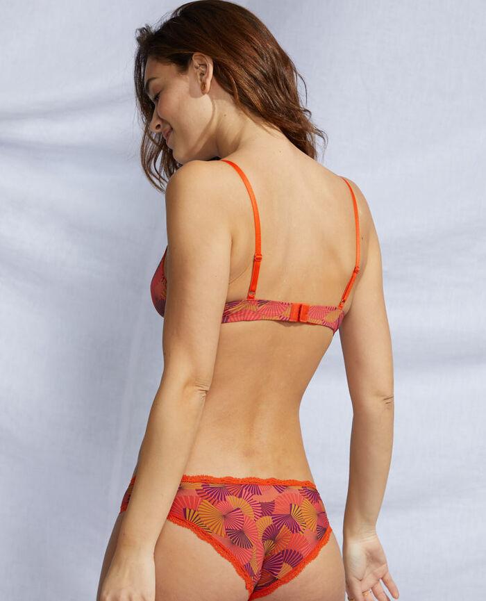 Soft cup bra Tangerine red fan Take away
