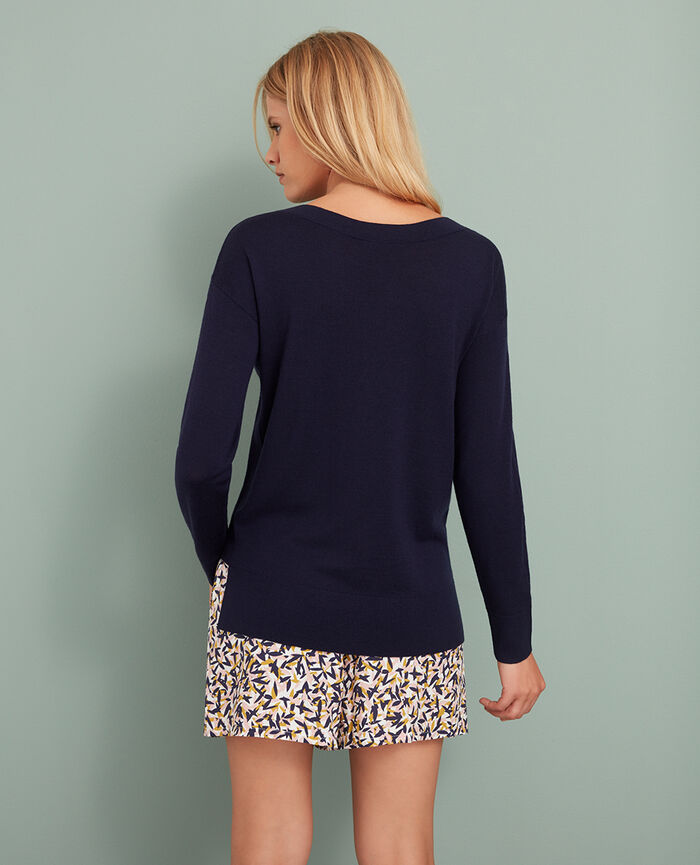 Boatneck jumper Manhattan blue Extra