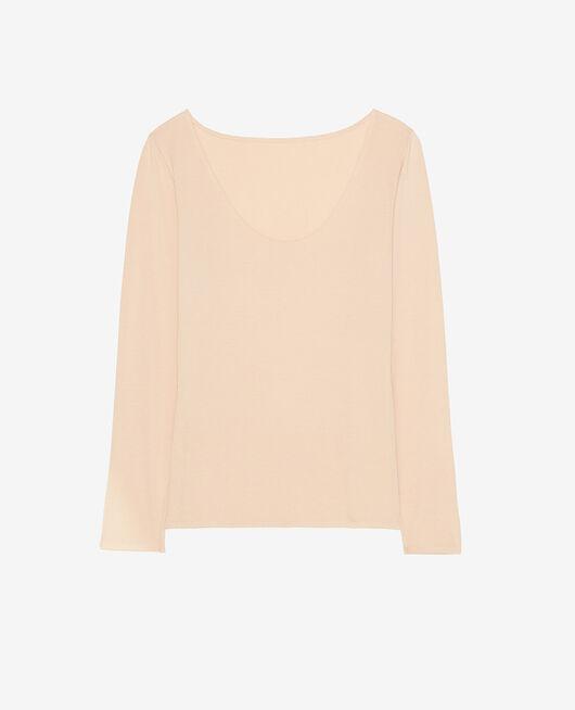 Long-sleeved t-shirt Powder beige Heattech® innerwear