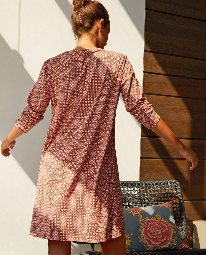 Long-sleeved nightdress Mosaic Dimanche