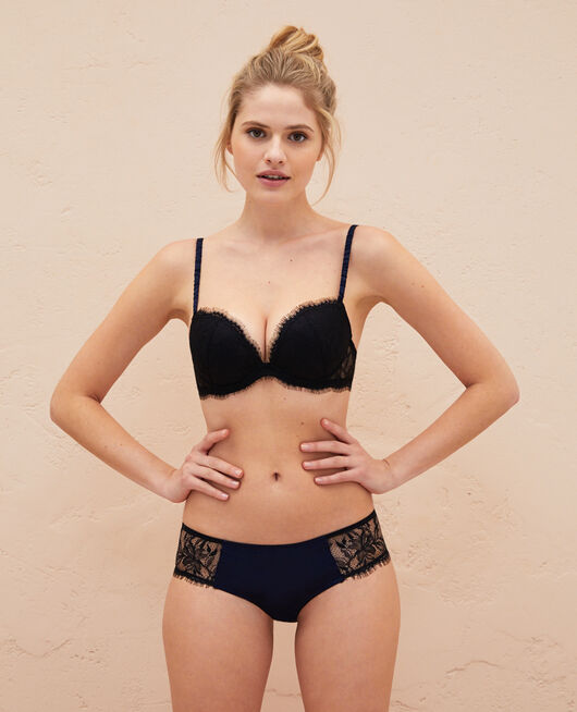 Plunge push-up bra Black Epice