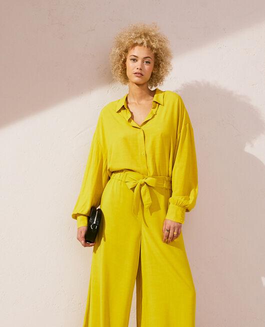 Veste de pyjama Vert anis Lounge viscose