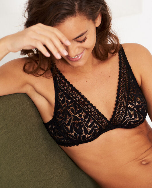 Underwired triangle bra Black Evidence