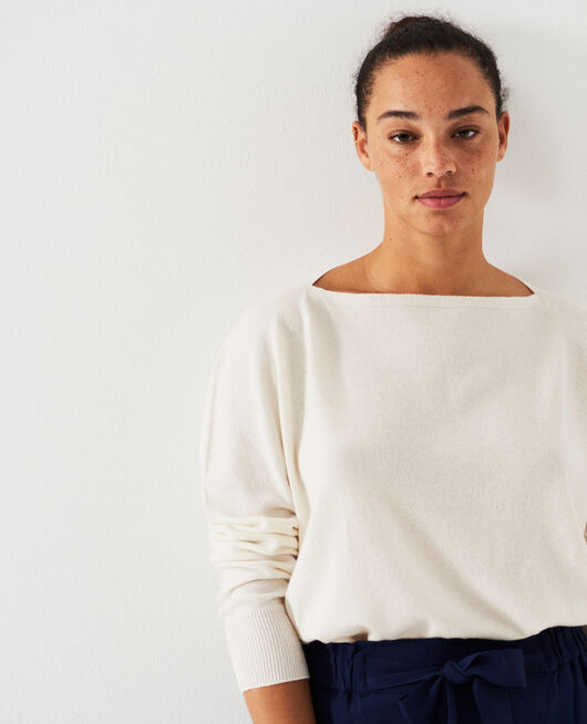 Pull col bateau Ivoire Cosy