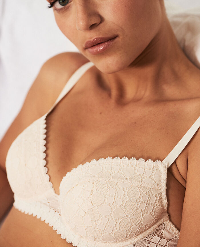 Padded push-up bra Rose white Josephine