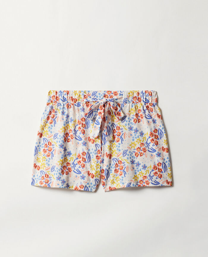 Pyjama shorts Ivory etching Tam tam shaker