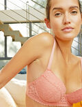 Soutien-gorge push-up mousses Rose mistinguett Monica