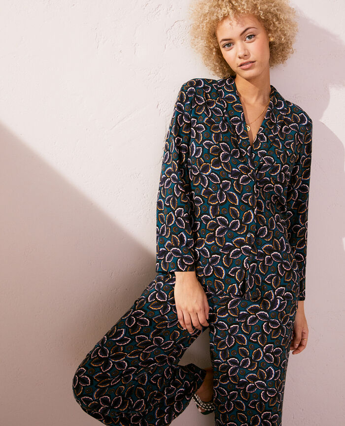 Veste de pyjama Wax bleu Pyjmania