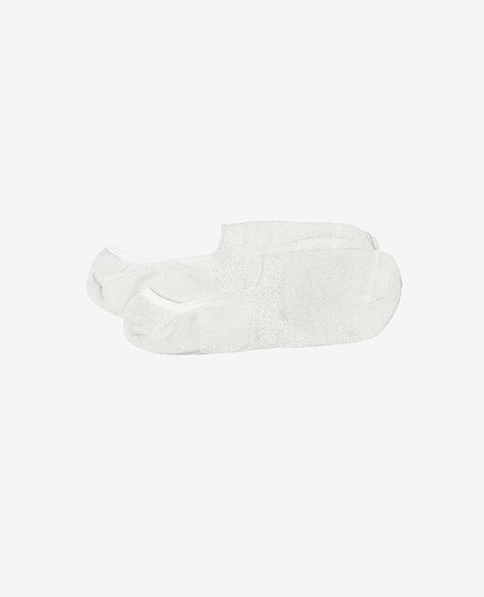 No-show socks Silver lurex Glitter