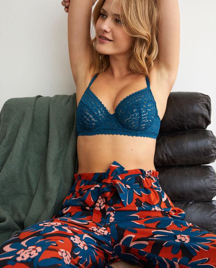 Soutien-gorge avec armatures Bleu jazz Monica