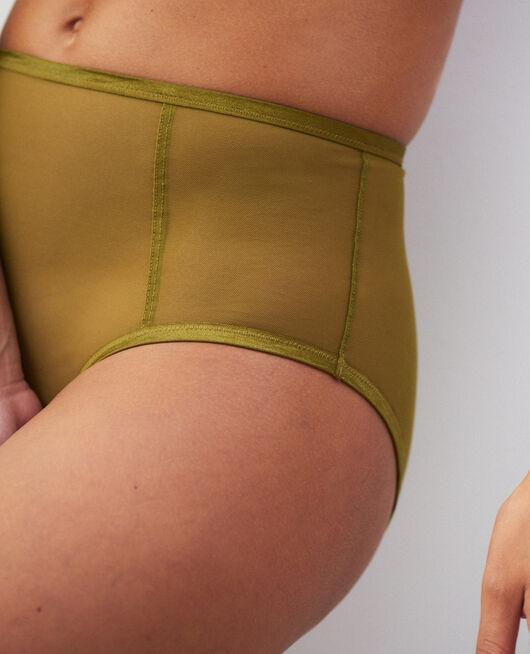 High-waisted briefs Green bowie Pure