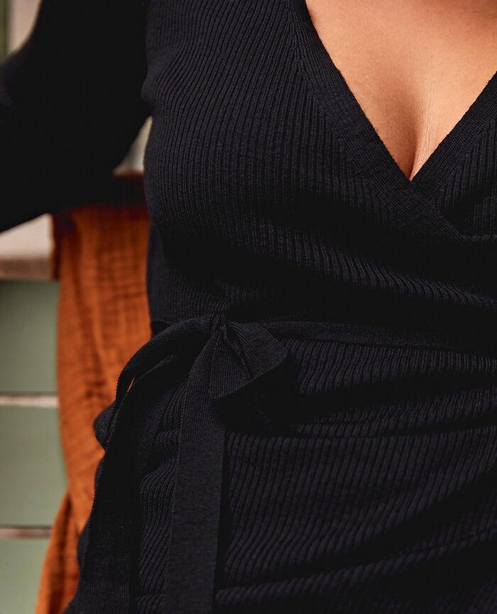 Cache-coeur Noir Cocoon