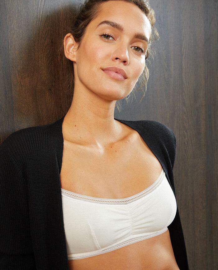 Soft bustier bra Rose white Cosy