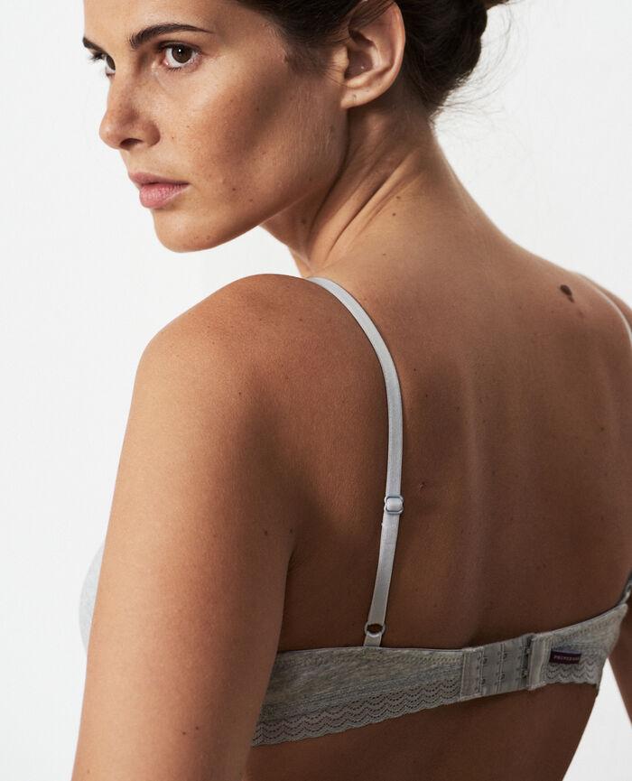 Wireless padde bra Flecked grey Echo