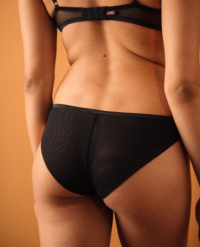 Culotte taille basse Noir Pure