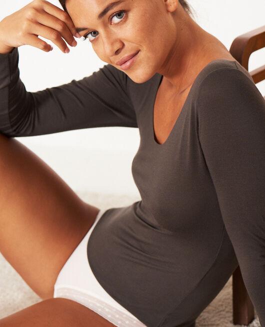 Long-sleeved t-shirt Grey fog Heattech® innerwear