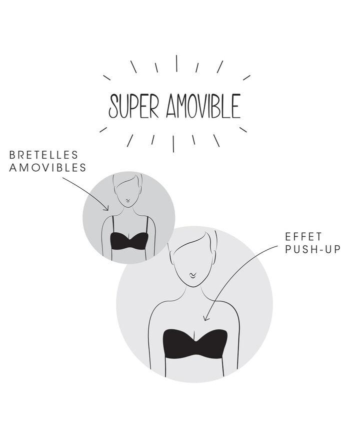 Contour strapless bra Rose white Secret
