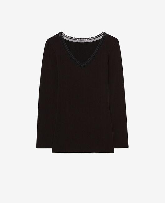 T-shirt manches longues Noir Heattech® extra warm
