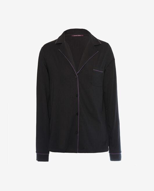 Pyjama jacket Black Dimanche