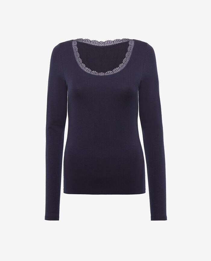 T-shirt manches longues Bleu marine Heattech© extra warm