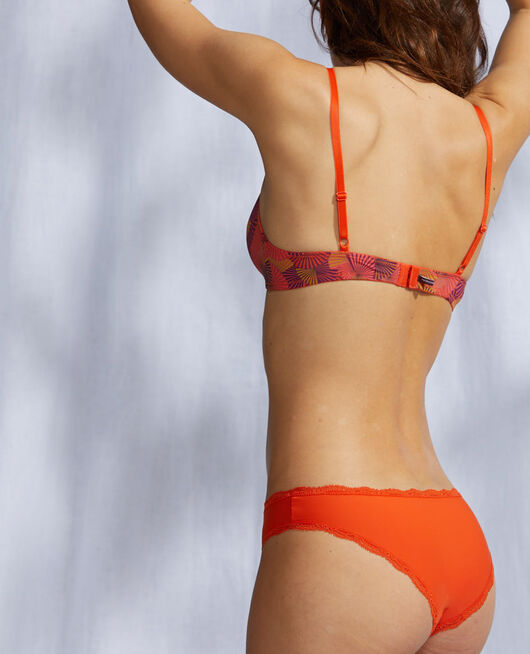 Culotte taille basse Rouge tangerine Take away