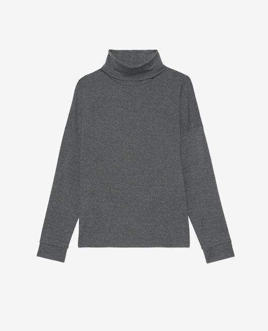T-shirt manches longues Gris chiné Heattech® lounge